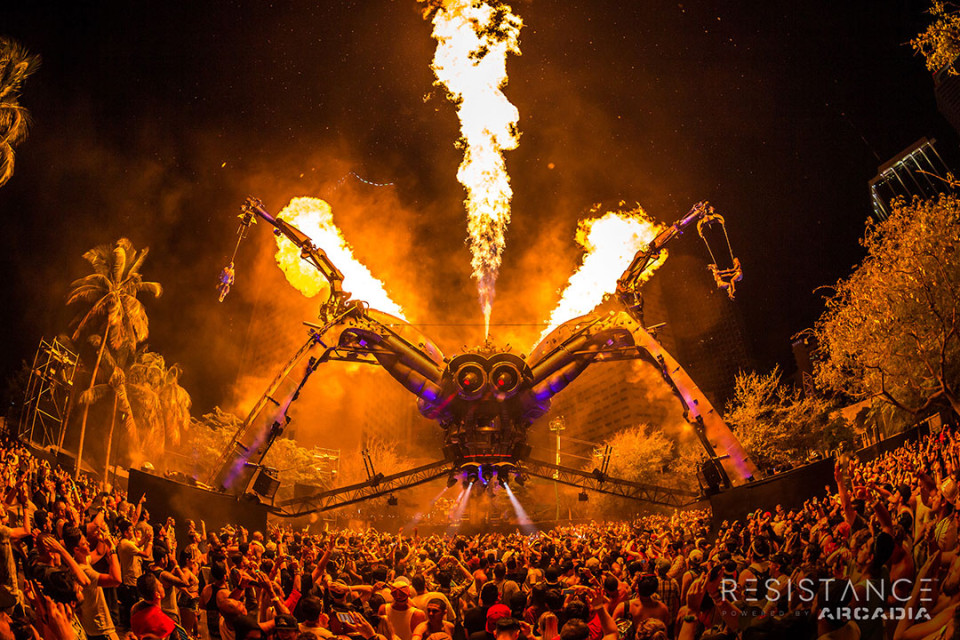 Spider, Arcadia, Ultra Music Festival Miami
