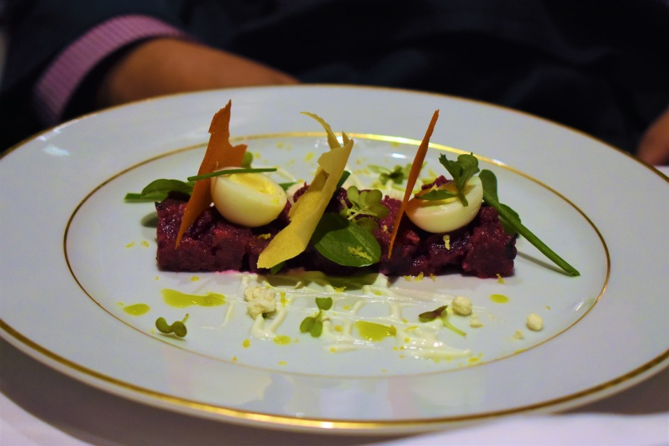 This Tuna Tartare dish is one of the many appetizers you can order at Le Bistro.