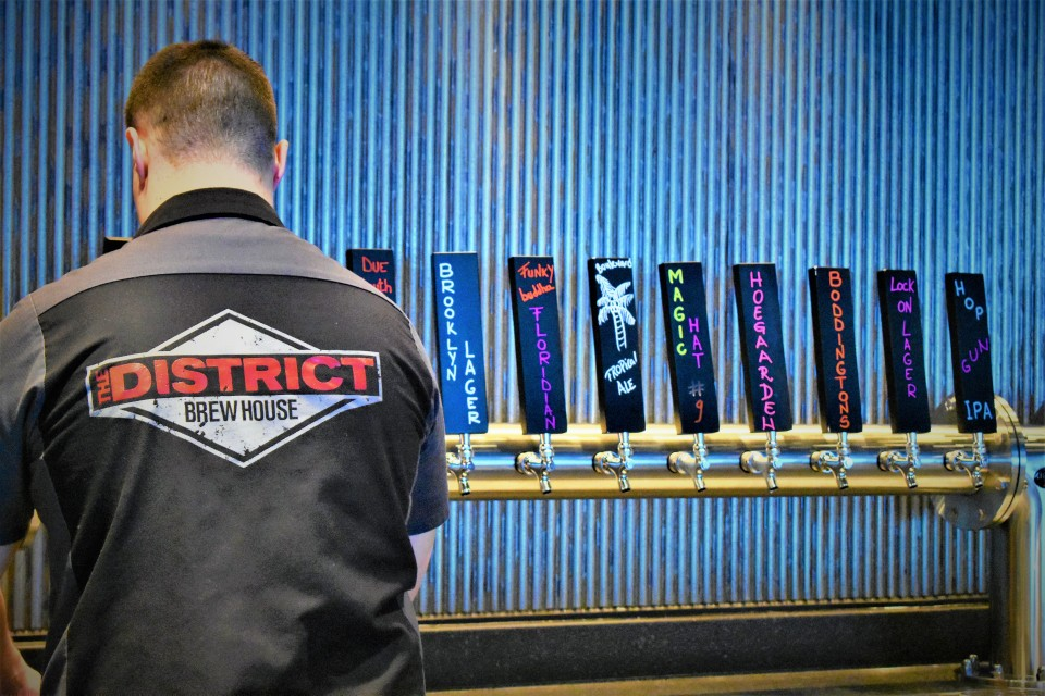 You may recognize some South Florida craft beers on the ship at The District.