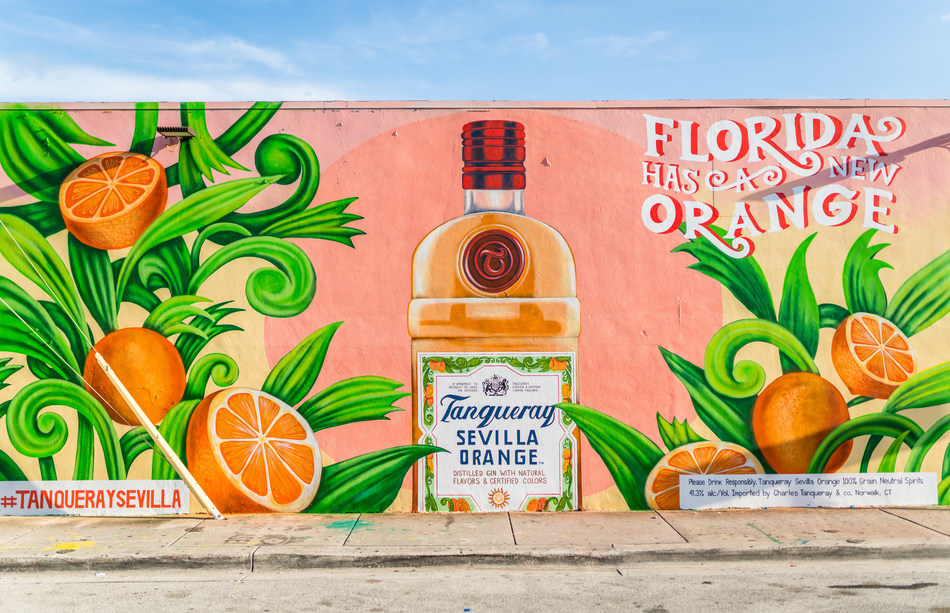 Tanqueray Sevilla Orange Launches in Miami with a Colorful Mural