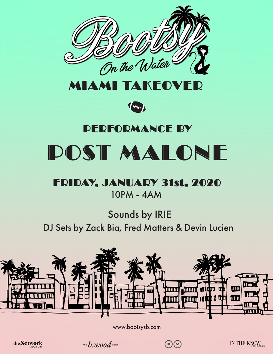 Post Malone at Bootsy On The Water Miami Takeover 2020